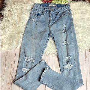 Levi's high rise skinny jeans size 27